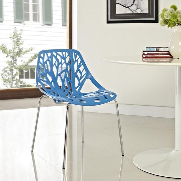 Stencil Chair in Blue Plastic