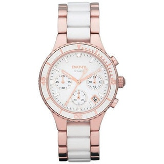 DKNY Women's NY8504 Two-Tone Stainless-Steel Quartz Watch with White Dial
