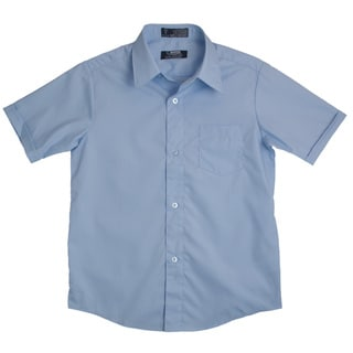French Toast Boys Blue Short-Sleeve Classic Dress Shirt