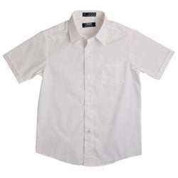 French Toast Boys' White Short-Sleeve Oxford Shirt
