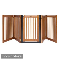 Highlander 32-inch Freestanding 5-panel Walk-through Pet Gate