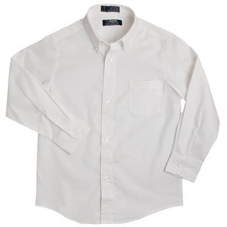 French Toast Boys Long-Sleeve Collared Oxford Shirt