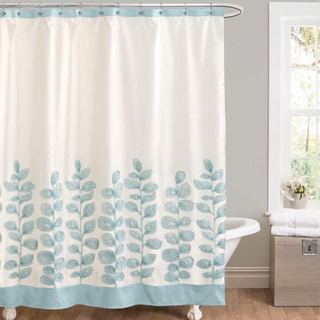 Lush Decor Vineyard Allure Blue Shower Curtain