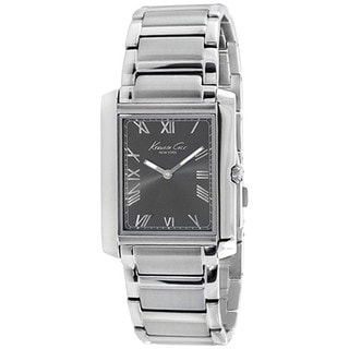 Kenneth Cole Men's Slim KC9185 Silver Stainless-Steel Quartz Watch with Grey Dial