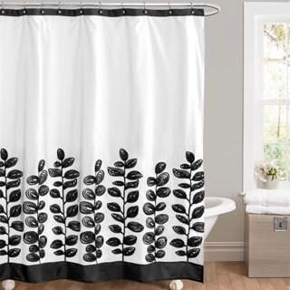 Lush Decor Vineyard Allure Black/ White Shower Curtain