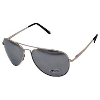 'Aviate' Steel and Black Aviator Sunglasses