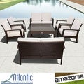 Mykonos Brown Deluxe Conversation 8-piece Patio Set