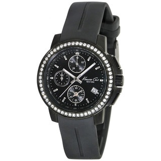 Kenneth Cole Women's Newness KC2732 Black Rubber Quartz Watch with Black Dial