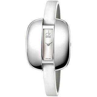 Calvin Klein Women's Treasure K2E23126 Silver Stainless-Steel Quartz Watch with Silver Dial