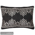 'Rupa' Transitional Foil Printed Jute Throw Pillow