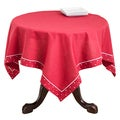 Red Swiss Dot Bordered Table Topper or Runner