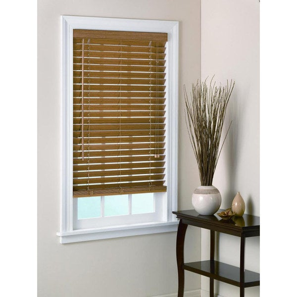 Bamboo blind 2 inch slats in pecan for 2 inch window blinds