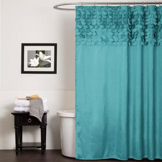 Lush Decor Lillian Turquoise Shower Curtain