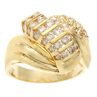 18k Yellow Gold Round Diamond Channel Scarab Ring Size 6.75