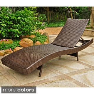 International Caravan Barcelona Resin Wicker/Aluminum Outdoor Multi-position Chaise Lounge