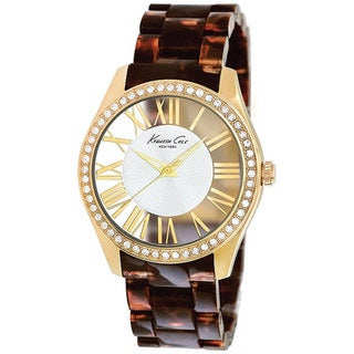 Kenneth Cole Women's Transparency KC4861 Brown Plastic Quartz Watch with Gold Dial