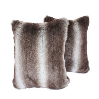 Sherry Kline 20-inch Bella Fur Decorative Pillows (Set of 2)