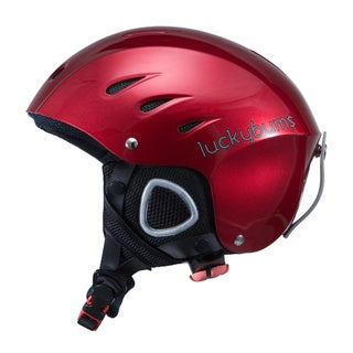 Lucky Bums Snow Sport Helmet, Red