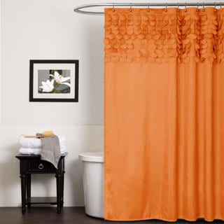Lush Decor Lillian Orange Shower Curtain
