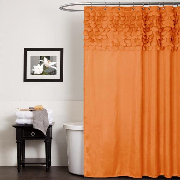 Lush Decor Lillian Orange Shower Curtain
