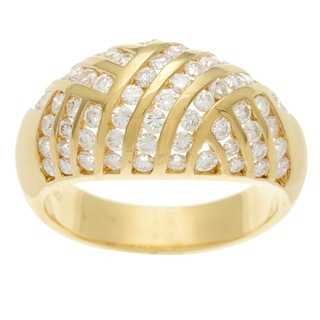 18k Yellow Gold 1 1/4ct TDW Diamond Channel Ring (H-I, SI1-SI2)
