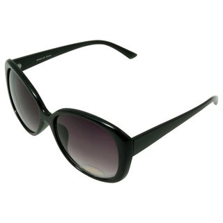 Women's 'Castle' Black Cat-eye Sunglasses