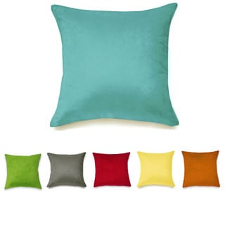 Solid Suedette Square Throw Pillow