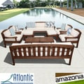 'Nova' 10-piece Eucalyptus Wood Deep Seating Patio Set
