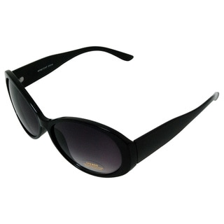 Women's 'Viva' Black Curved Fashion Sunglasses