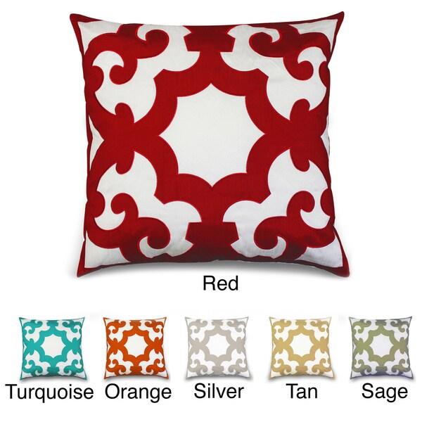 'Bukura' Two-tone Embroidered 24-inch Throw Pillow