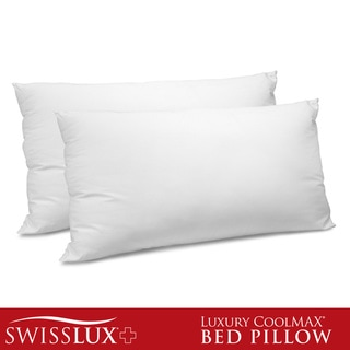 SwissLux 400 Thread Count CoolMax Down Alternative Pillow (Set of 2)