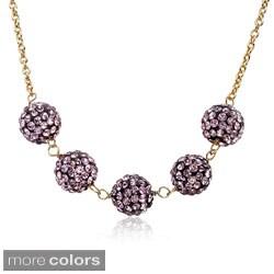 Molly Glitz 14k Gold Overlay Children's Crystal Ball Necklace