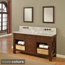 Direct Vanity 70-inch Xtraordinary Premium Spa Espresso Double Vanity Sink Cabinet