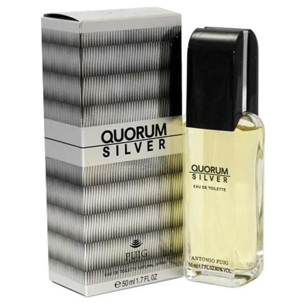 Antonio Puig Quorum Silver Men's 1.7-ounce Eau de Toilette Spray