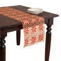 Red Poinsetta Cutwork Table Runner
