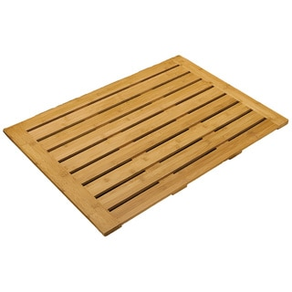 Seville Classics Bamboo Bathroom Floor Mat (28 in x 22 in)