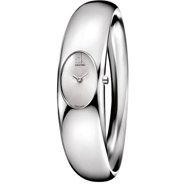 Calvin Klein Women's Exquisite K1Y23120 Silver Stainless-Steel Quartz Watch with Silver Dial