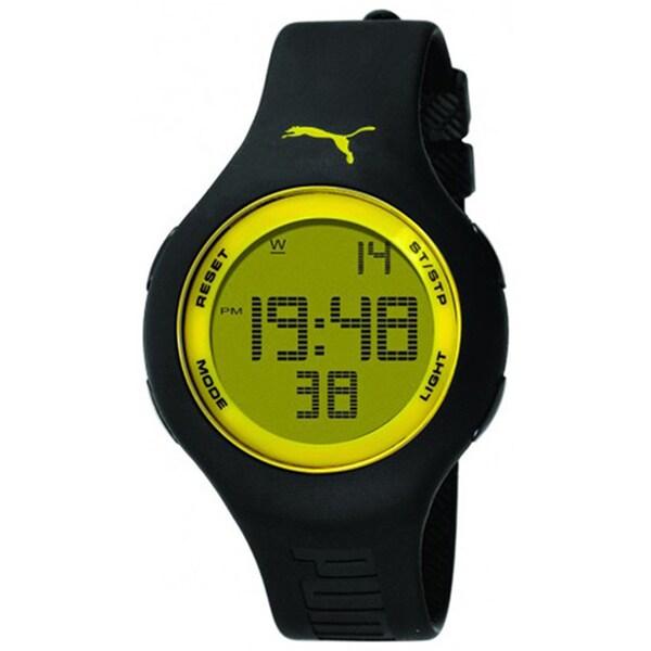 Puma Men's Active PU910801007 Black Polyurethane Quartz Watch with Digital Dial