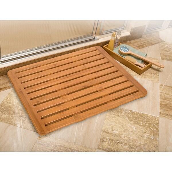 classics bamboo bathroom floor mat 26 in x 20 in 15566148