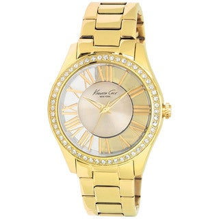 Kenneth Cole Women's 'Transparent KC4853' Goldtone Stainless Steel Silvertone Dial Quartz Watch