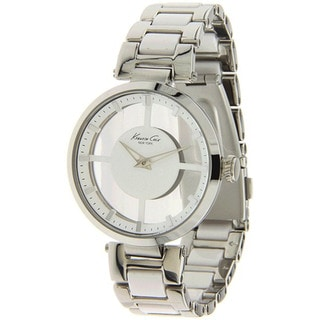 Kenneth Cole Women's 'Transparency KC4827' Silvertone Stainless Steel White Dial Quartz Watch