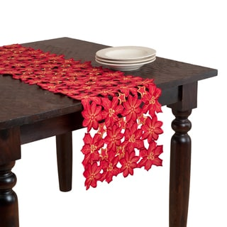 Floral Cutwork Embroidered Table Runner