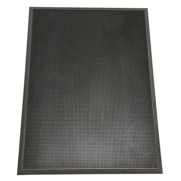 "Rubber-Cal ""Door Scraper"" Commercial Entry Mat - 5/8 x 24 x 32-inch Black Outdoor Entrance Mat"
