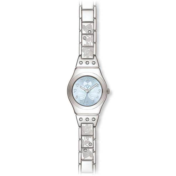 Swatch Women's Irony YSS222G Silver Stainless-Steel Quartz Watch with Blue Dial