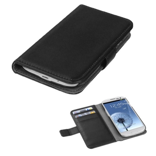 INSTEN Book-style Leather Wallet Phone Case Cover for Samsung Galaxy S3/ III i9300