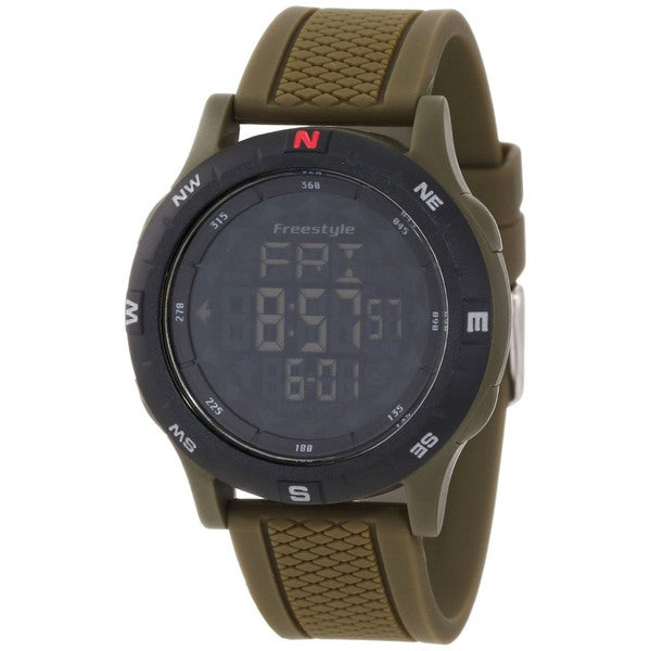 Freestyle Men's Navigator 3.0 Green Silicone Quartz Digital Watch