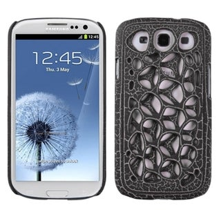 INSTEN Black Hard Plastic Skin Phone Case Cover for Samsung Galaxy S 3/ III i9300