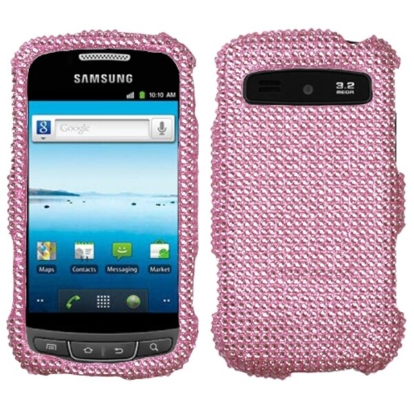 INSTEN Pink/ Diamante Phone Case Cover for Samsung R720 Admire Vitality