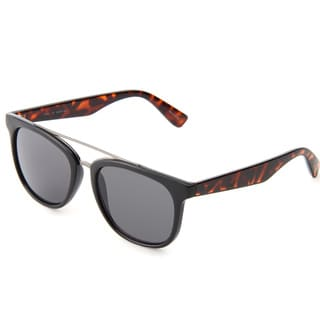 Izod Unisex IZ 357 13 Black And Tortoise Plastic Sunglasses
