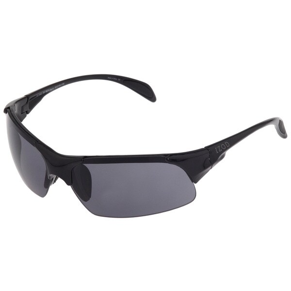 Izod Unisex IZ 105 10 Black Plastic Sport Sunglasses